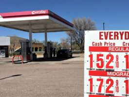 Springs gas prices had fallen to a four-year low in May when this photo was taken at an east-side convenience store.