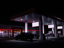 convenience store at gas station